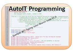 Autoit Programming